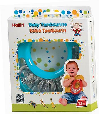 Halilit Baby Tambourine Musical Instrument Textured Grip 12m+