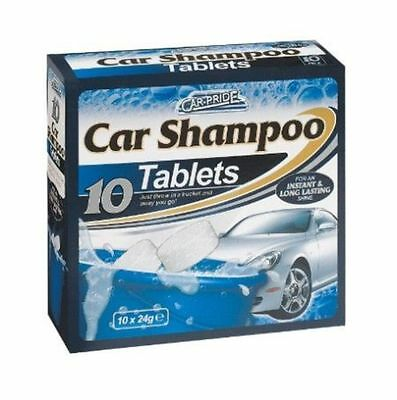 New 10 Pack Car Pride Car Wash Shampoo Cleaner Tablets Instant Long Last Shine