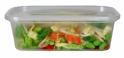 250x C650 650ml Clear Plastic Containers with Lids Microwave Food Safe Takeaway