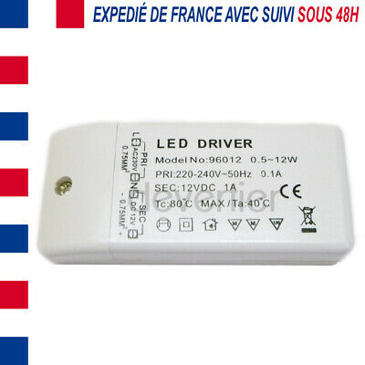 Alimentation Transformateur 12V Dc 1A 12W Ampoule Ruban Led 2835 3528 5050 5630
