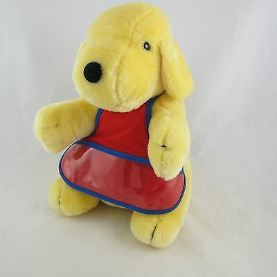 "Eden Spot the Dog Plush by Eric Hill Stuffed Toy 10.5"" Tall w/ Red & Blue Apron"