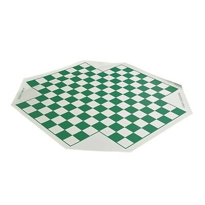 """USCF Sales 4 Player Vinyl Chess Board - 1.56"""" Squares"""