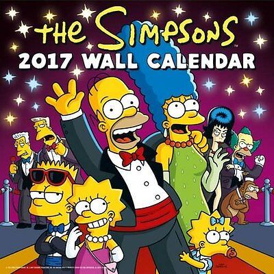 Simpsons Official 2017 Square Wall Calendar Brand New 9781785491283