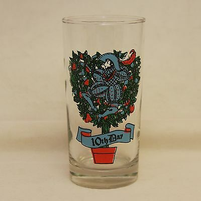 Twelve Days Of Christmas 10TH DAY Tumbler Indiana Glass Ten Lords a Leaping 12