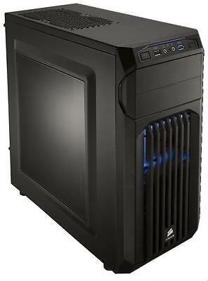Corsair Carbide Series SPEC-01 Mid-Tower Case Blue LED Fan Black CC-9011056-WW