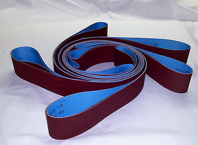 "2""x72"" Sanding Belts 600 Grit Premium Red ""J"" Flex (5pcs)"