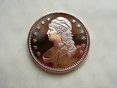 1 oz .999 Fine Copper Capped Bust Half Dollar Coin / Round