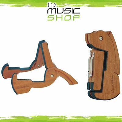 CooperStand Pro G Folding Wooden Guitar Stand - Folds Small & Fits in you Guitar