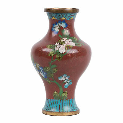 China 20. Jh. Emaille -A Chinese Cloisonne Enamel Baluster Vase - Chinois Cinese