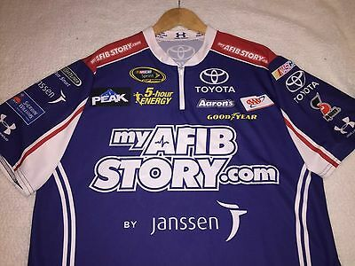 XL Under Armour Shirt Bowyer MWR Pit Crew Nascar My AFIB Story Race Used