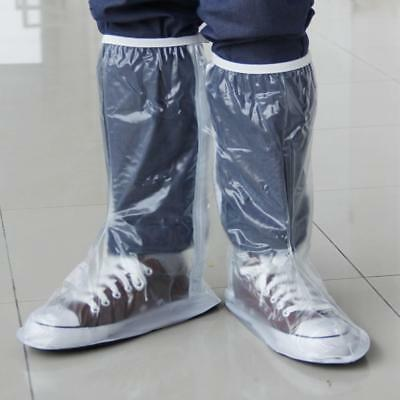 Durable Anti-Slip Waterproof Shoe Cover Rain Boots Overshoes Protector White