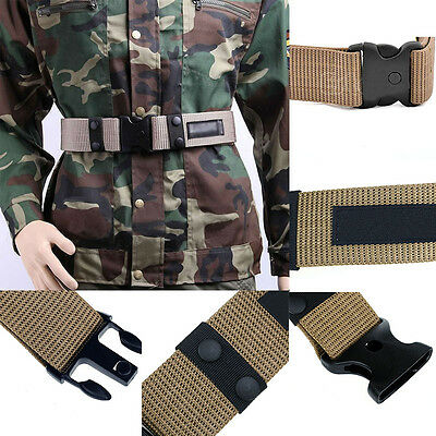 Men Fashion Outdoors Sport Tactical Military Combat Rescue Rigger Nylon Belt Hot