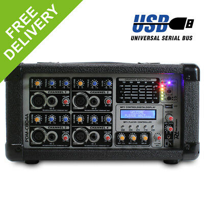 PD 4-Channel Line Live Stage PA System Power Mixer Amplifier 800W with Effects