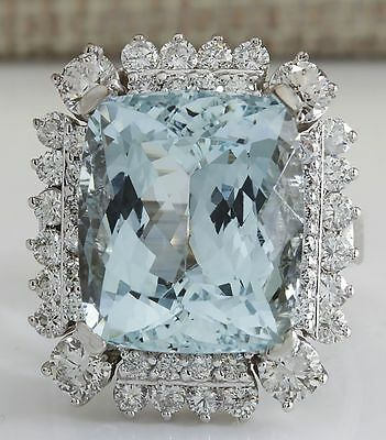 925 Sterling Silver Princess Cut Aquamarine Wedding Engagement Ring Size 6-10