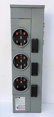 Eaton 1MM312R 800A Max Residential Meter Stack, 3 Socket, 1-Phase, 120/240V