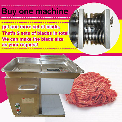 with 2 custom blades meat cutting machine,restaurant meat cutter,110V or 220V