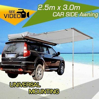 NEW 2.5x3m Waterproof Durable Outdoor Camping 4WD Car Awning, Ripstop Canvas