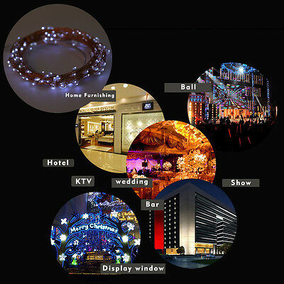 100//150/200 LED Solar Powered Waterproof Copper Wire Outdoor String Fairy Light