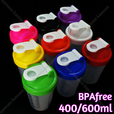 400/600ml 9Color Shake Protein Blender Shaker Mixer Cup Drink Whisk Ball Bottle