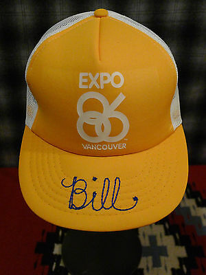 EXPO 86 VANCOUVER Canada WORLDS FAIR Cap TRUCKER Hat *BILL CHAINSTITCH* Yellow