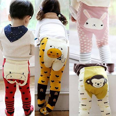 2PCS Toddler Boys Girls Baby Cute Cartoon Leggings Pants Trousers + Ankle Socks
