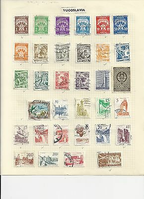 JUGOSLAVIA - COLLECTION OF USED STAMPS - #JUG1ab - 2 SCANS