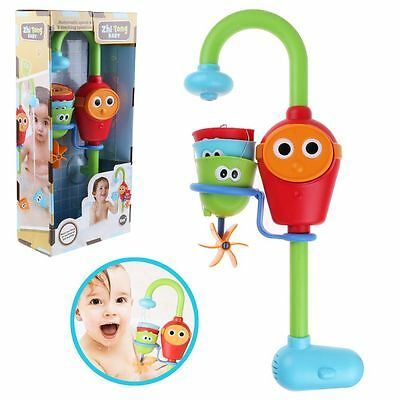 Hot Flow 'N' Fill Spout Faucet Water Bath Fun Toy Set Learning Cartoon Baby Gift