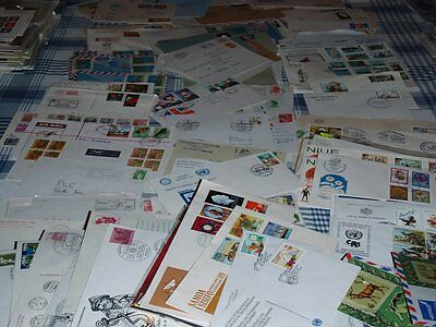 Massive Mix World Stamped and Cancelled Envelopes