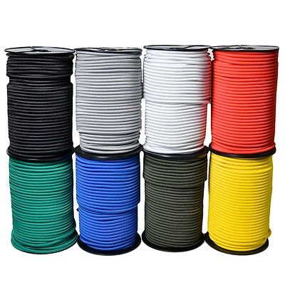 Trade Prices! - 50M Reels Elastic Bungee Rope Shock Cord Tie Down In 8 Colours
