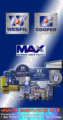 Wesfil 4Wd Air Oil Fuel Filter Service Kit For Nissan Patrol Gu Zd30 07-On Crd