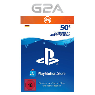 Playstation Network 50 EUR Card - PSN €50 Euro Guthaben Karte - PS4 Pro PS3 [DE]