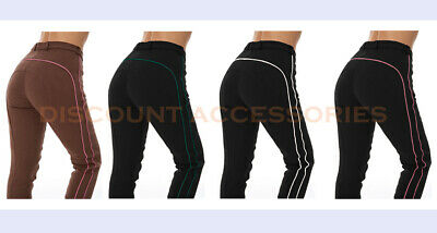 Ladies Piping Jodhpurs Jodphurs Horse Riding Pants Soft Stretchy Sizes & Colour