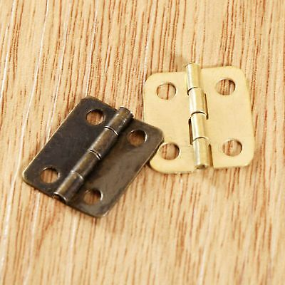 16*13mm Iron Butt Hinges Music Wooden Jewelry Chests Box Door Hinge with Screws