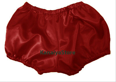 Maroon Satin Pants Pantaloons Indian Maid Sissy Adult Baby Fits With Underwear