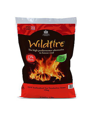 WILDFIRE COAL - 10x25KG PRE-PACKED BAGS DIRECT FROM MANUFACTURER