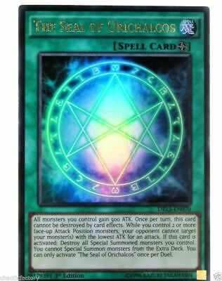 Yugioh DRL3-EN070 The Seal of Orichalcos Ultra rare 1st edition MINT!