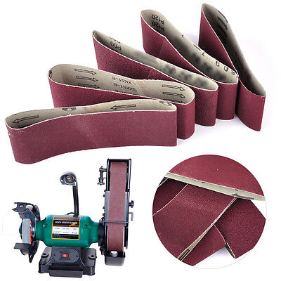 5PCS 75mm Sanding Belts Polish Sandpaper 60 80 100 120 240 Grit Sander Mixed