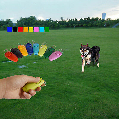 Dog Clicker & Whistle- Training, Obedience, Pet Dog Trainer Click With Guide