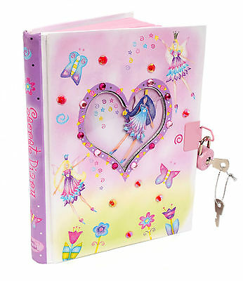 Pink Fairy Kids Girls Secret Diary (Lockable) Stationery Notebook - Lucy Locket