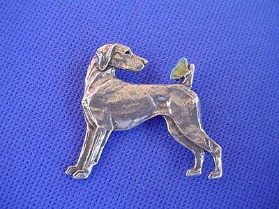 Weimaraner Butterfly Pin 65B Pewter Sporting dog jewelry by Cindy A. Conter