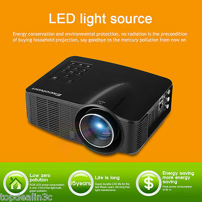 Mini LED Proyector 1500 Lúmenes WIFI Android 4.2 projector HD USB/SD/AV/HDMI/3D