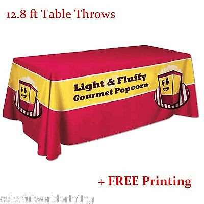 12.8 ft Table Throws with Custom Dye-sublimation Full Color Printing (Round)