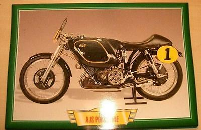 Ajs Porcupine 500 Classic Motorcycle Race Bike 1950's Picture Print 1954