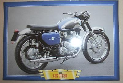Ajs 31Csr 650 Twin  Classic Motorcycle Bike 1960's Picture Print 1961
