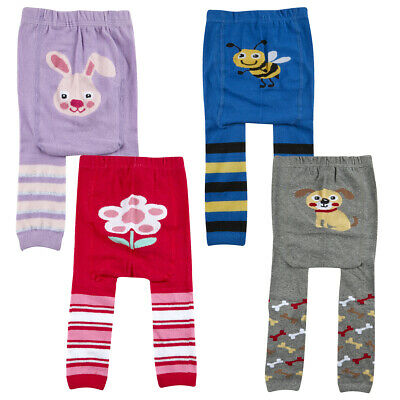 2 Pack Baby Babies Panel Leggings Footless Tights Printed Design Boys Girls NEW