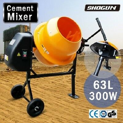 NEW 300W 63L Heavy Duty Steel Frame Portable DIY Landscaping Cement/Sand Mixer