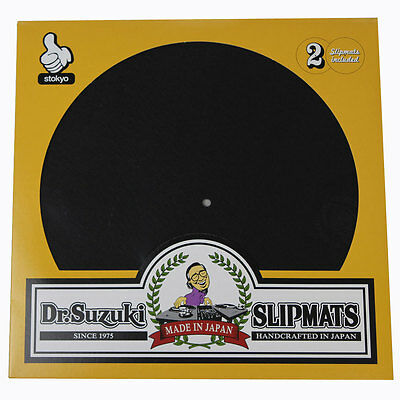 Dr Suzuki Mix Edition Slipmats Pair in Black Ultimate DJ Slipmat