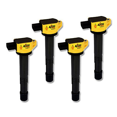 ACCEL Performance Ignition Coil for Honda 2.0/2.2/2.4L ,I4 , 4 Pack, PN:140311-4