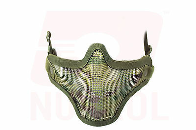 Nuprol CAMOUFLAGE Mesh Face Mask Airsoft MILSIM Protection BB FREE UK DELIVERY