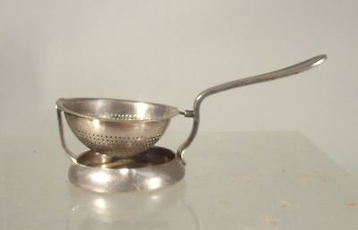 Antique Silver Plate French Cristofle Marked Tea Strainer Table Item Hallmarked